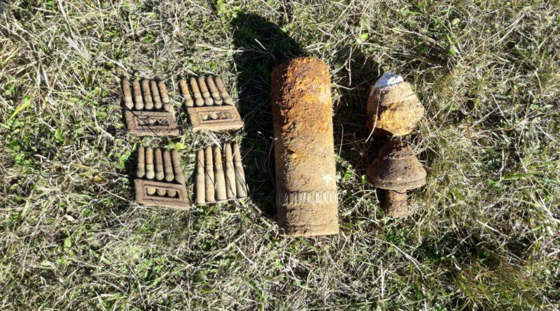 Muniții de război descoperite în comuna Borlești și Bicaz Chei.