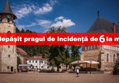 Municipiul Piatra Neamț a depășit pragul de incidență de 6 la mie