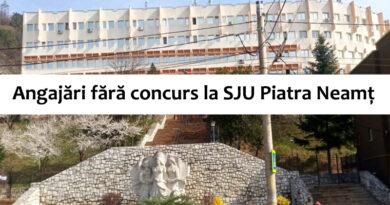 Angajări fără concurs la Spitalul Județean de Urgență Piatra Neamț