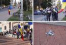 [Imagini/Video] Protest anti-măști, anti-COVID la Piatra Neamț