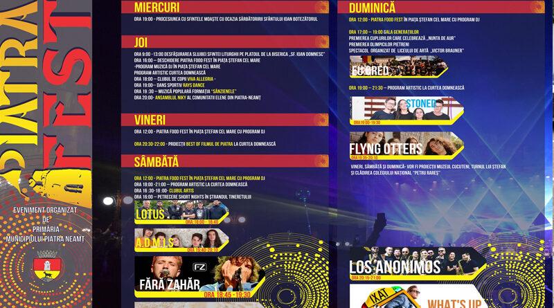 """""""Piatra Fest"""" – Zilele Orașului Piatra-Neamț"""