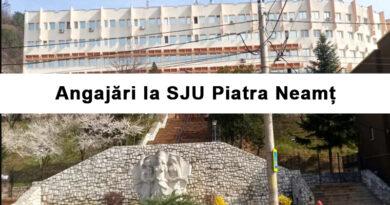 Angajări masive la SJU Piatra Neamț  – 27 locuri vacante