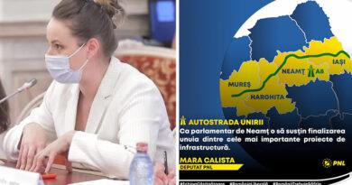Mara Calista, deputat PNL: Ca parlamentar de Neamț o să susțin finalizarea unuia dintre cele mai importante proiecte de infrastructură