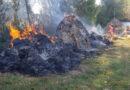 Câțiva copii au dat foc la stogurile de fân