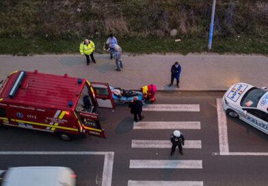 Tânără de 20 de ani accidentată grav pe o trecere pentru pietoni din Piatra Neamț