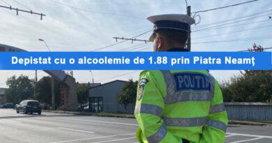 Depistat la volan cu o alcoolemie record pe o stradă din Piatra Neamț