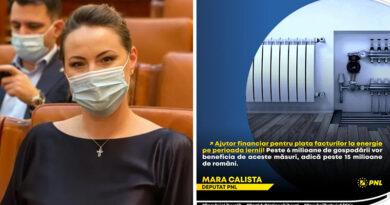 Mara Calista, deputat PNL: Ajutor financiar pentru plata facturilor la energie pe perioada iernii!