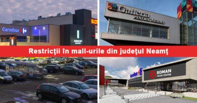 Restricții pentru nevaccinați în Shopping City, Galleria Piatra Neamț și în Roman Value Centre
